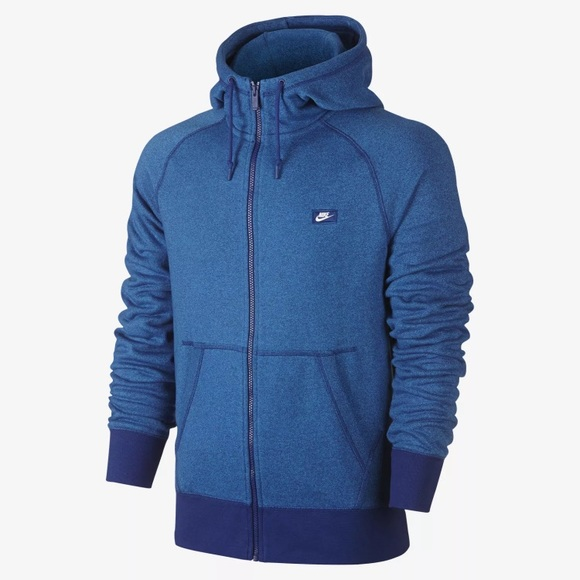 67a50934d29a Nike Heather Blue AW77 Full-Zip Hoodie. Men s XL